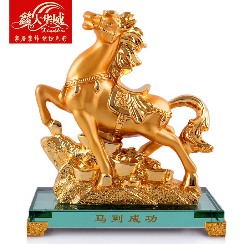 Lunar new year of the horse horse ornaments crafts madaochenggong money immediately kat mascot feng shui home feng shui ornaments business gifts