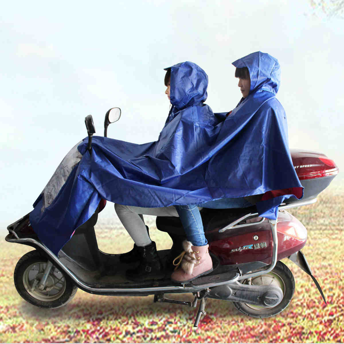 Luwint shipping single or double raincoat raincoat bike electric cars increased thickening fashion raincoat raincoat poncho