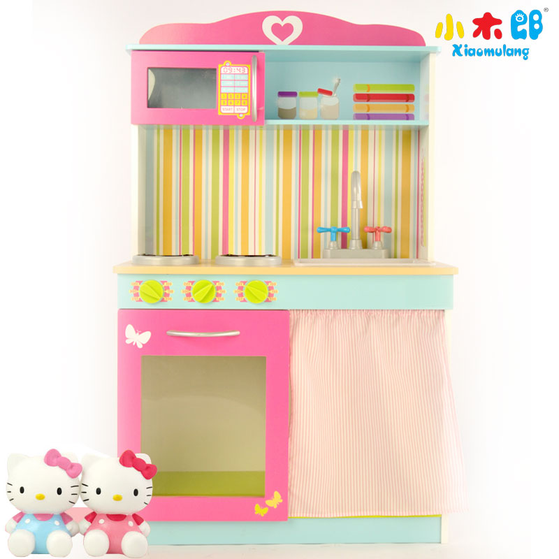 Luxury simulation play house wooden toys for children puzzle multifunction cooking simulation kitchen toys genuine gift