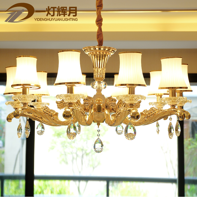 Luxury zinc alloy crystal chandelier european creative minimalist bedroom living room chandelier dining chandelier led chandelier lamp jane europe