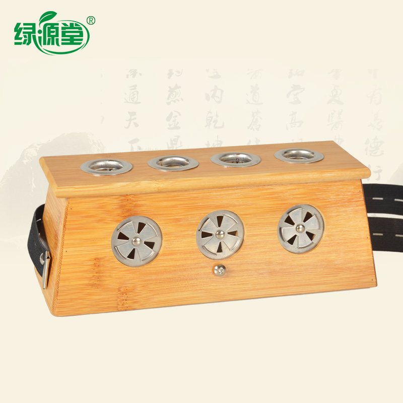 Luyuan church bamboo system square four moxibustion box moxibustion box four holes 4 holes moxibustion box moxibustion moxibustion moxibustion moxibustion instruments Appliances