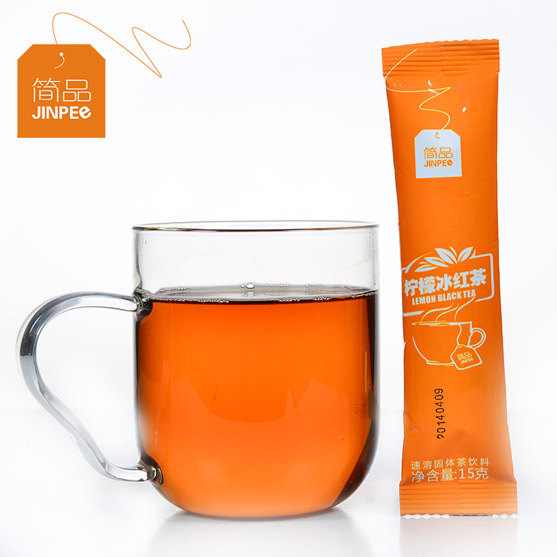 [Lynx] jane supermarket goods 100 lemon ice tea 15g/article instant lemon tea powder jane Commodities