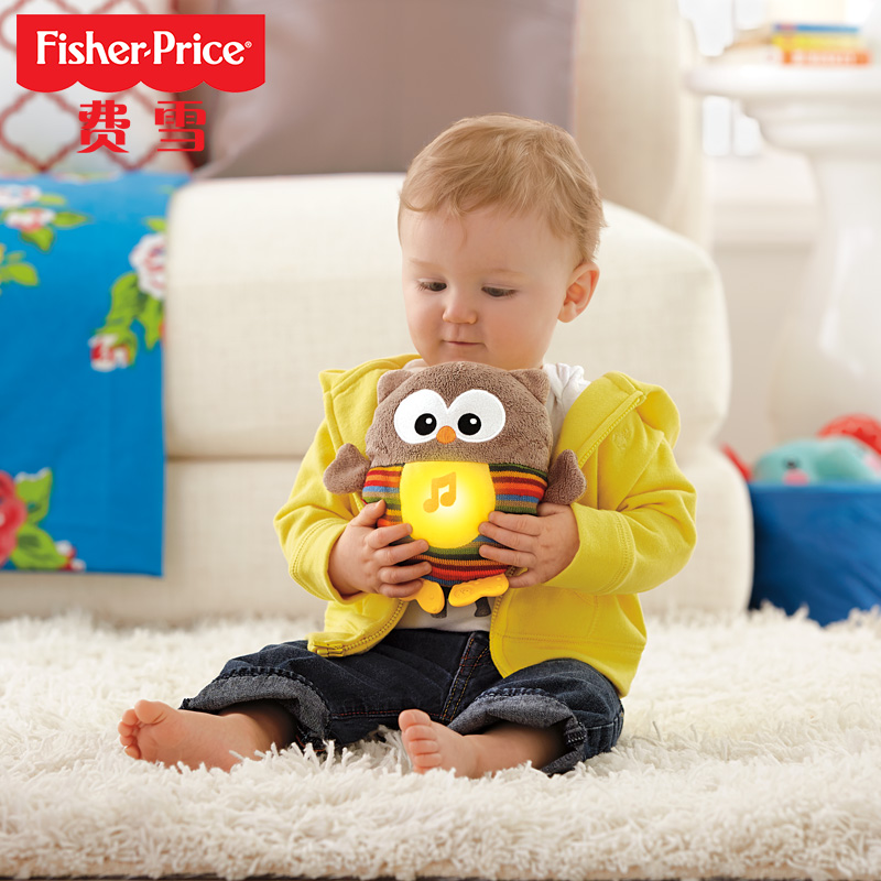 [Lynx supermarket] fisher sound and light to appease owl infant prenatal music plush toys CDR56