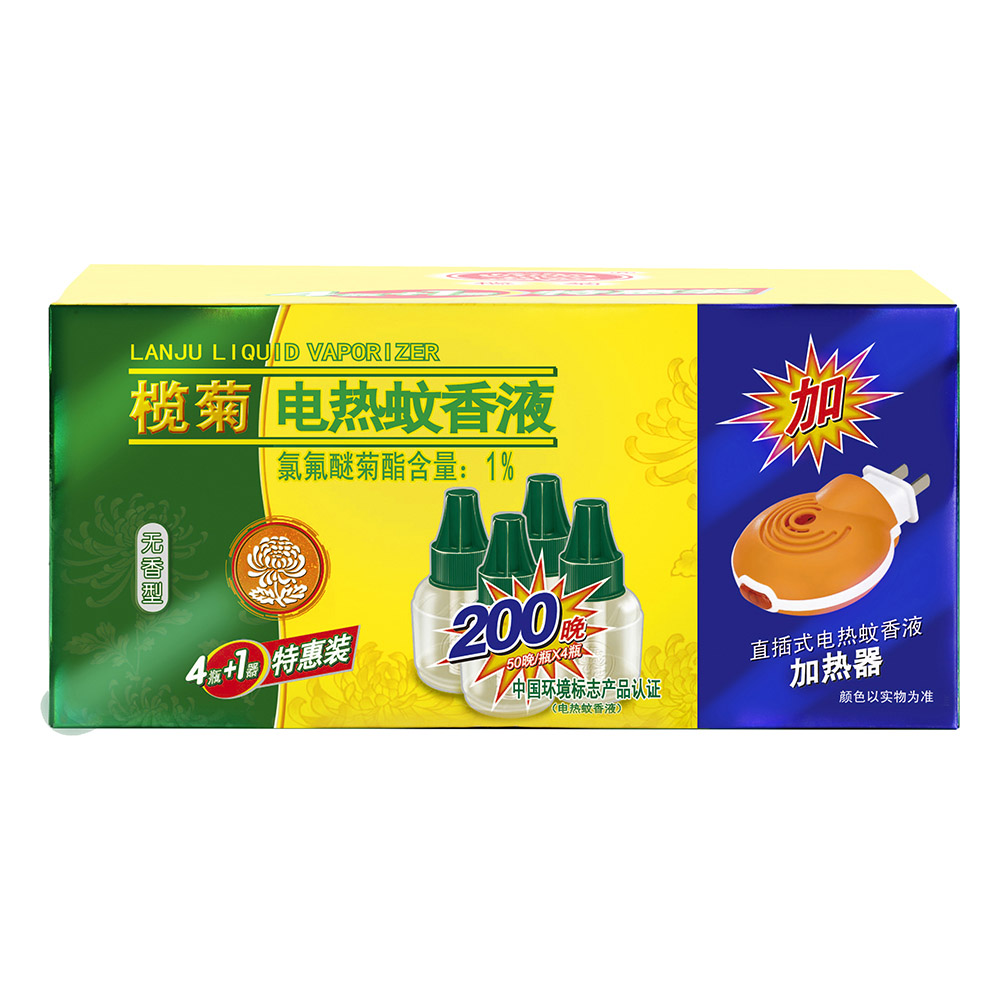[Lynx supermarket] lam ju electric mosquito liquid unscented 45 ml * 4 + 1 line type heating Is a combination of equipment