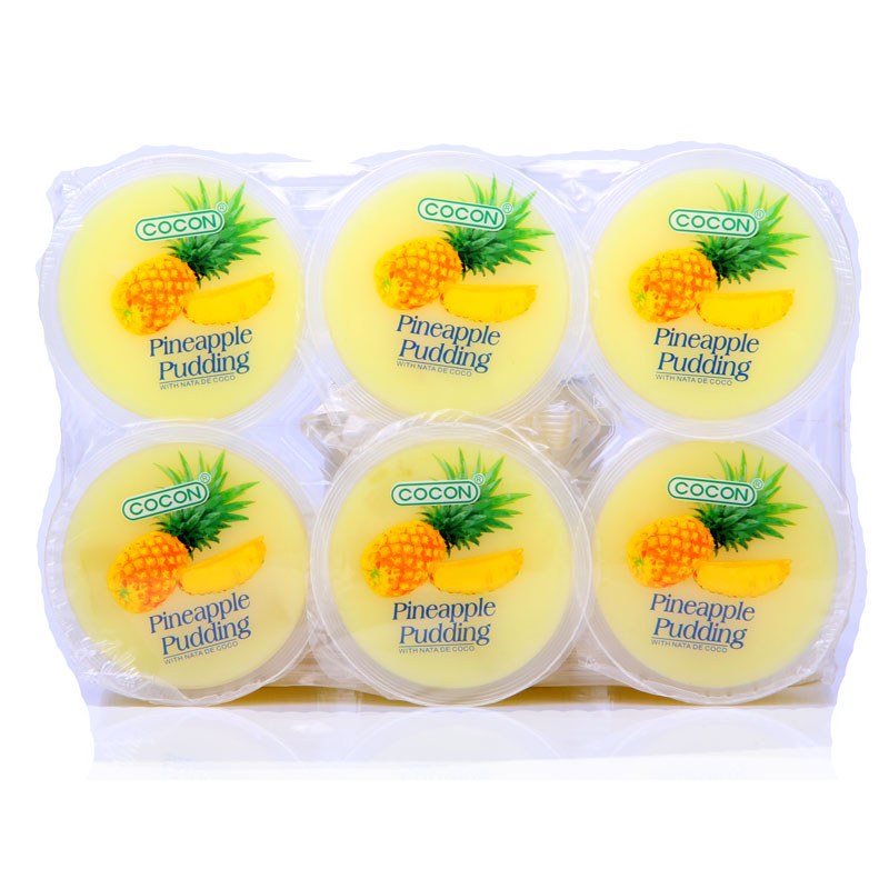 [Lynx supermarket] malaysia imports may kang brand jelly coconut pudding pineapple flavor 80gx6 cup