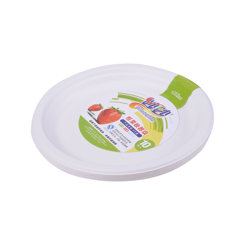 [Lynx supermarket] miu miu biodegradable disposable dinner plate dinner plate 7 inch 18.5 cm (10 loaded )