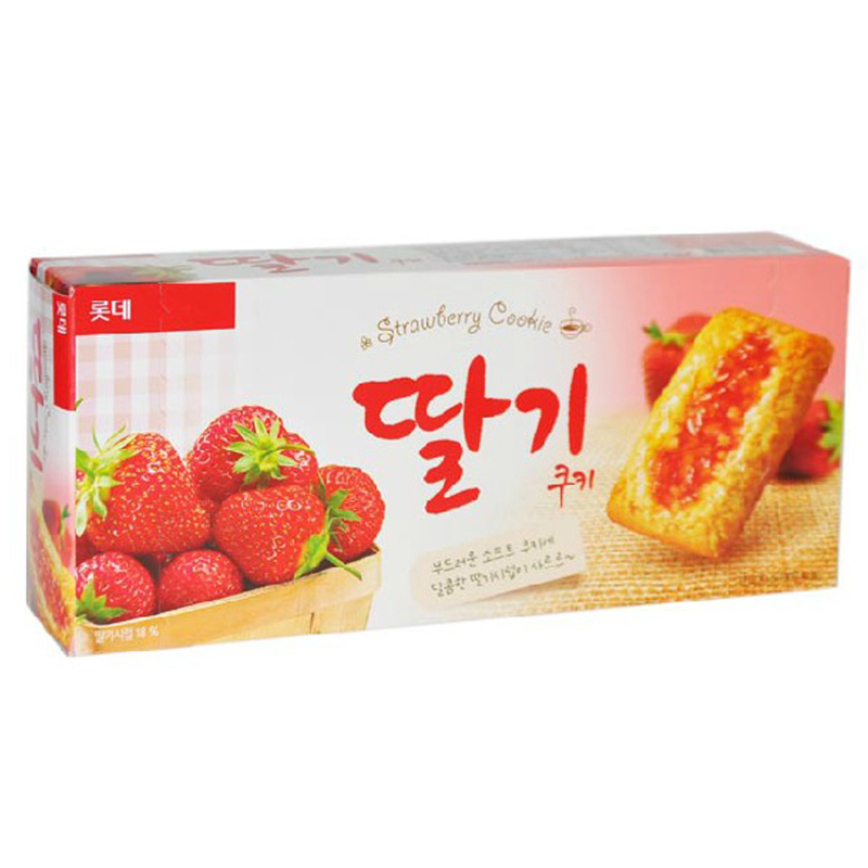 [Lynx supermarket] south korea imported biscuits lotte strawberry jam cookies 230g/box