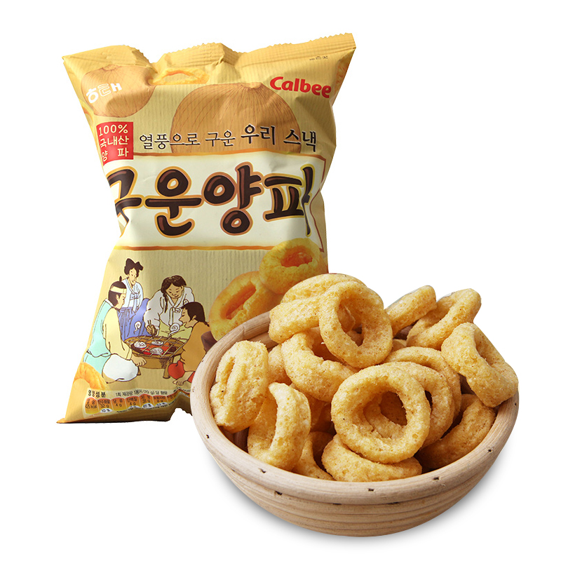 [Lynx supermarket] south korea imported sea too tendergrill onion rings 70g/bag of imported puffed leisure zero Food