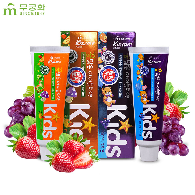 [Lynx supermarket] south korea imports wu qionghua dreams innocent children toothpaste strawberry grape flavor 150g grass
