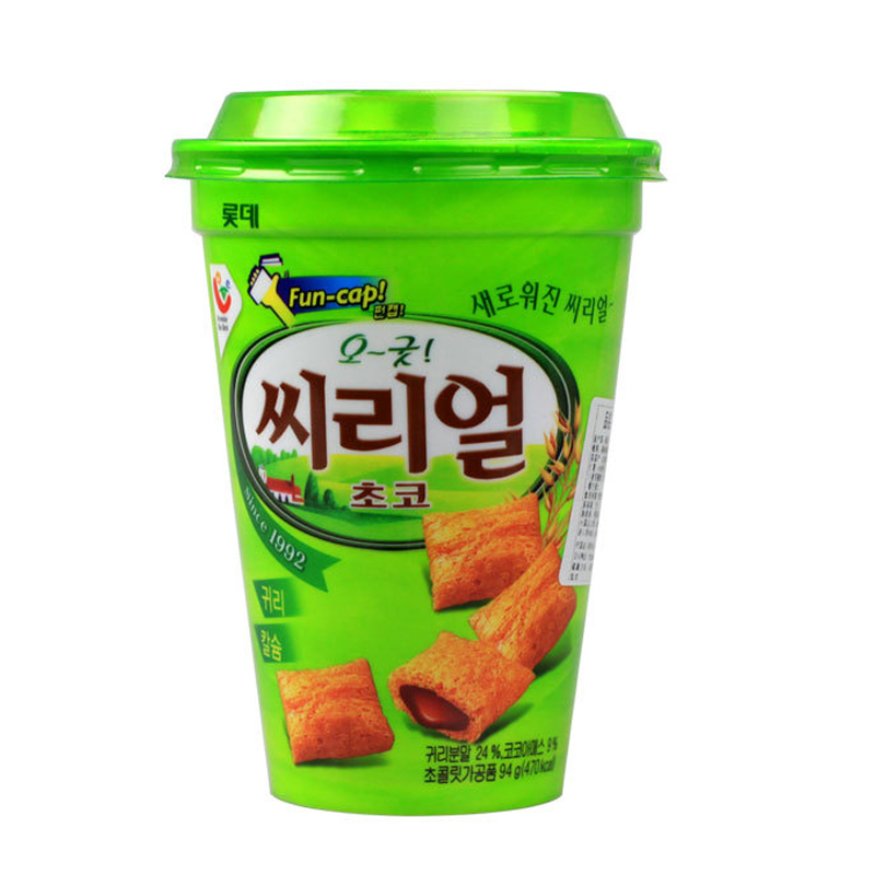 [Lynx supermarket] south korean imports of lotte oatmeal chocolate sandwich crackers 94g/snack box