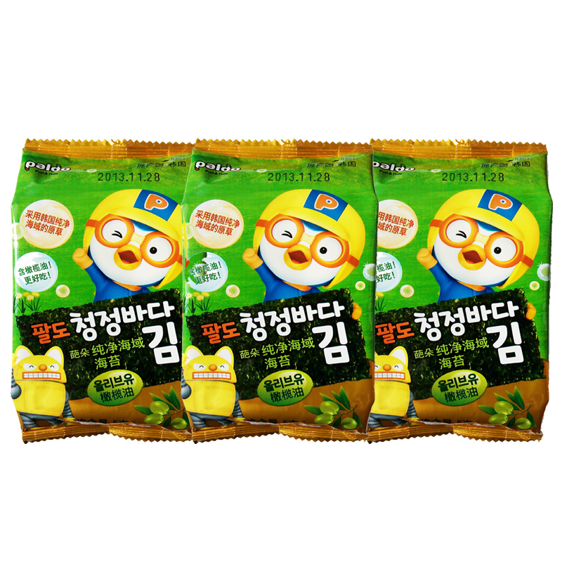 [Lynx supermarket] south korean imports of pure waters pa duo seaweed flavored olive oil 15g seaweed snack