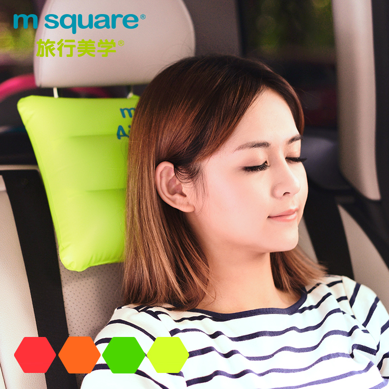 M square outdoor travel folding portable inflatable pillow inflatable travel pillow pillow pillow pillow cushion office