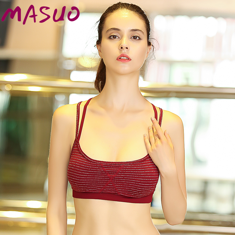 Ma huzoth shoulders with the united states back in summer sports bra without rims shockproof running fitness yoga underwear