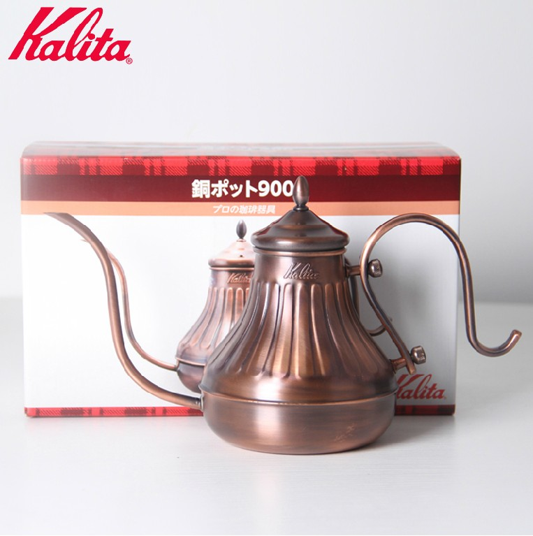 Made in japan kalita copper court fine mouth pot hand punch pot coffee pot hand punch pot fine mouth pot 900cc