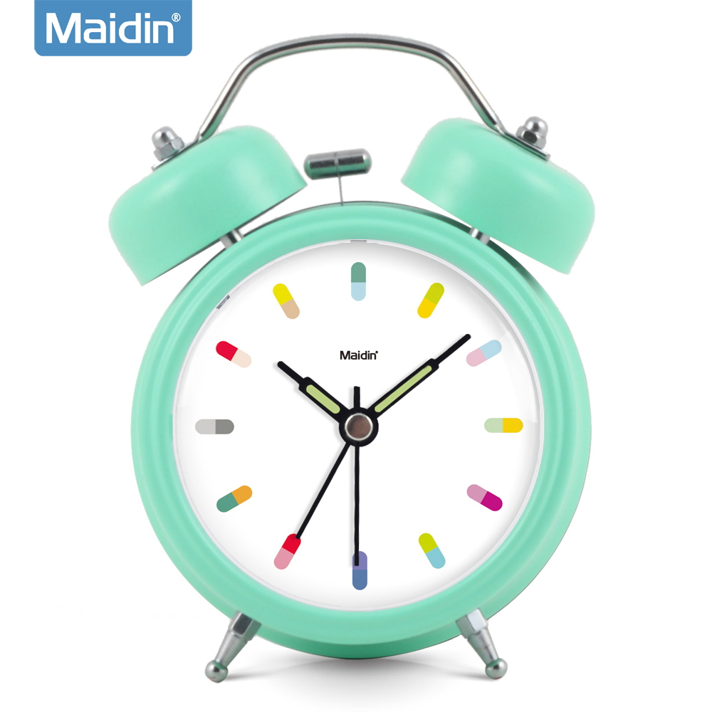 Madine bedroom student creative small alarm clock alarm clock bedside alarm clock snooze luminous personality mute clock watch 922