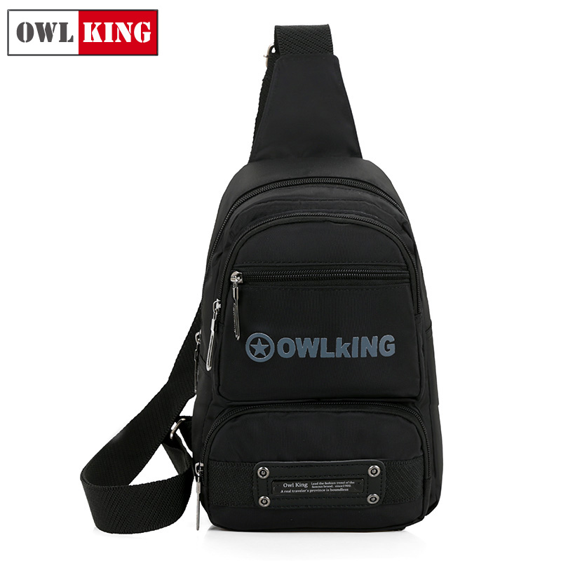 Magic king owl shoulder bag leisure bag oxford cloth bag messenger bag chest bag man bag new men's chest pack