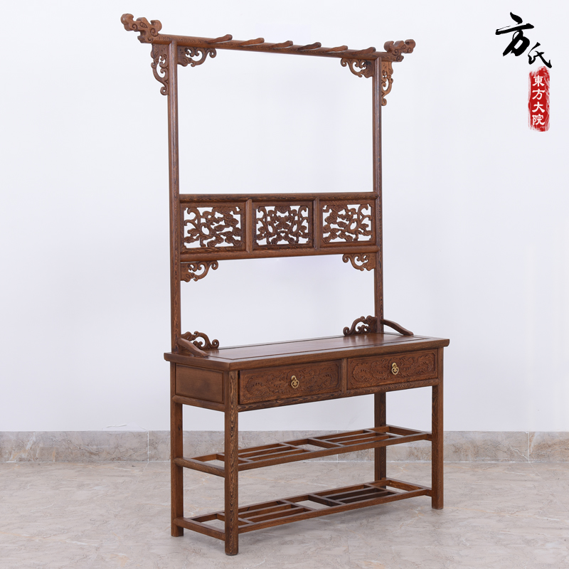 Mahogany furniture wenge wood floor full of antique chinese wood bedroom coat hangers clothes rack shoe rack