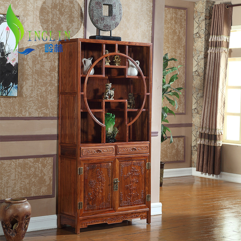 Mahogany wood shelf wood bookcase library furniture of ming more treasure cabinet antique cabinet book cabinet treasure house museum Aircraft