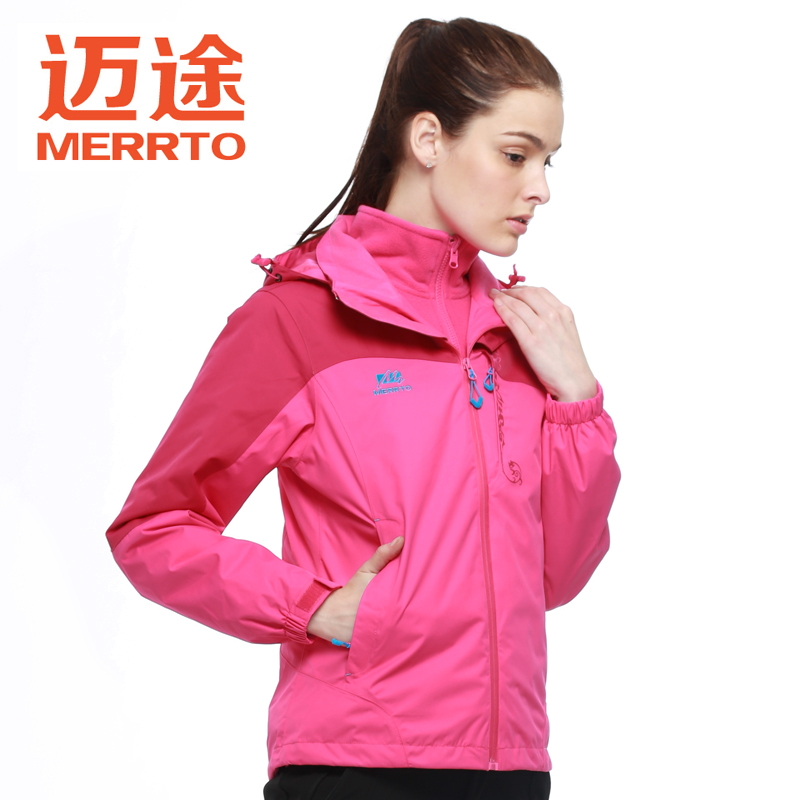 Mai passers autumn and winter outdoor piece female models jackets triple removable fleece liner warm spell color coat
