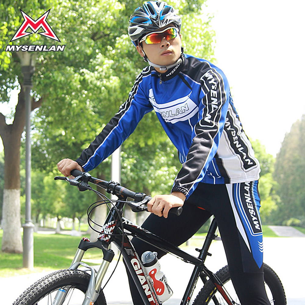 Mai senlan speed bike jersey long sleeve suit jersey fleece winter riding clothes