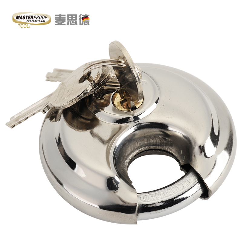 Mai side tortillas round lock padlock security lock padlock warehouse straight to open the padlock the doors and windows box stainless steel blade lock