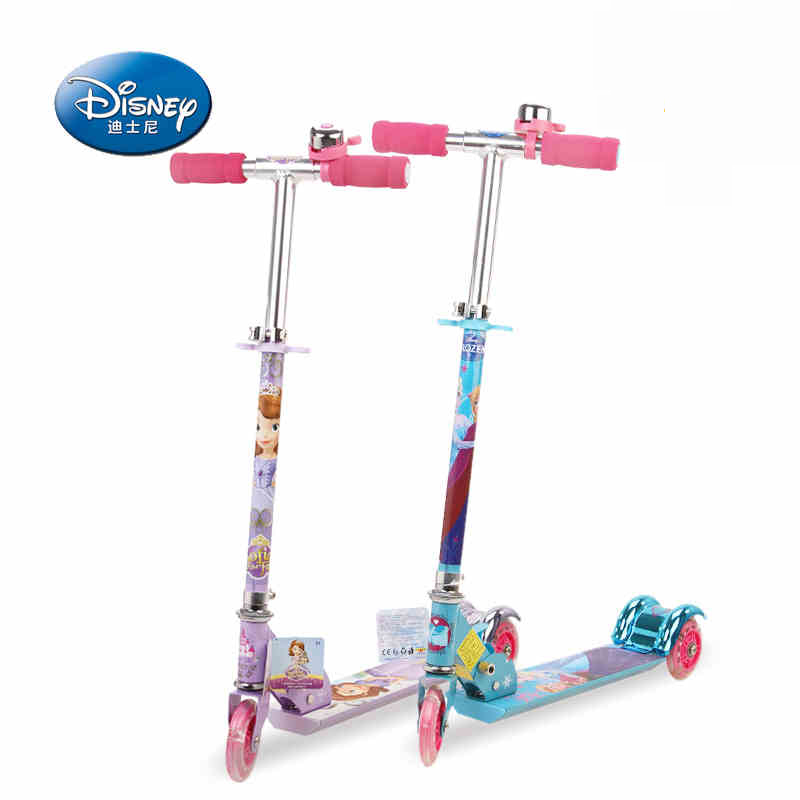 Mai sika new adjustable flash scooter scooters for children three scooters disney frozen