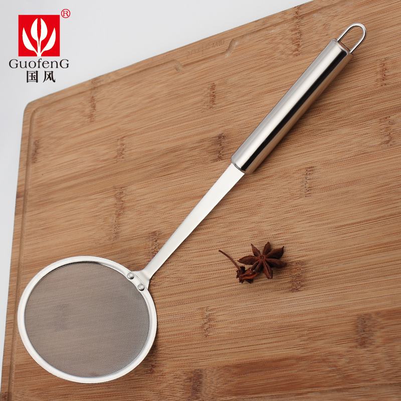 Mak 304 stainless steel oil filter mesh sieve kitchen oil spill spoon juice milk strainer spoon oil skimmer