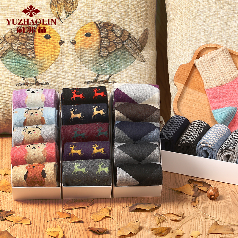 Male/ms. autumn and winter models thick warm wool socks in tube socks female socks warm cold winter wool socks