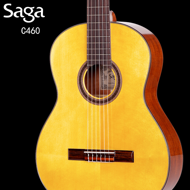 Mall genuine guitar saga sajia c460 veneer of classical guitar classical guitar jita piano playing professional