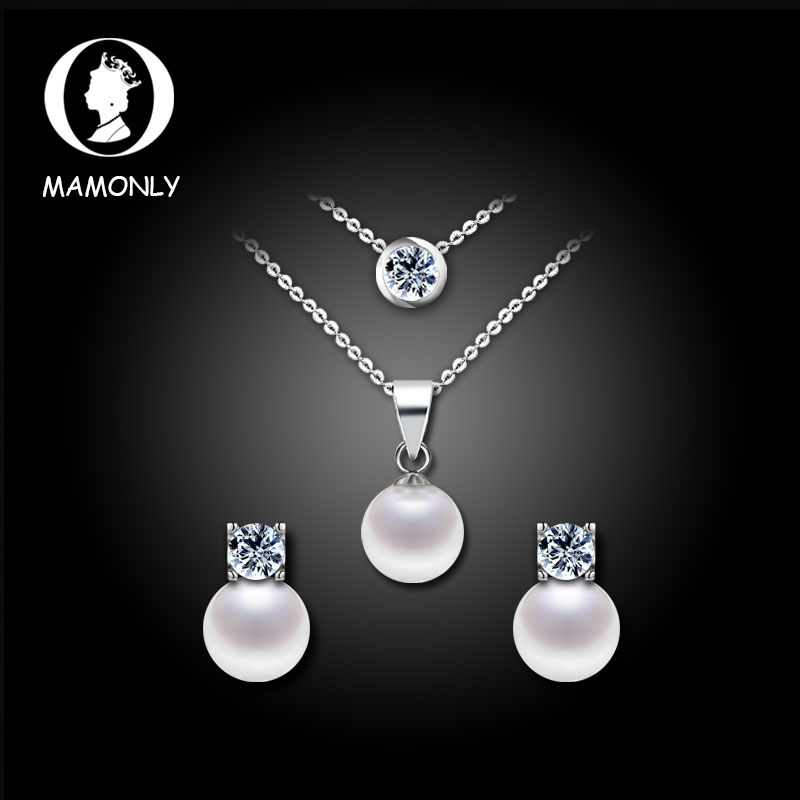 Mam only using austrian crystal pearl necklace earrings gift set to send his wife a gift for her mother