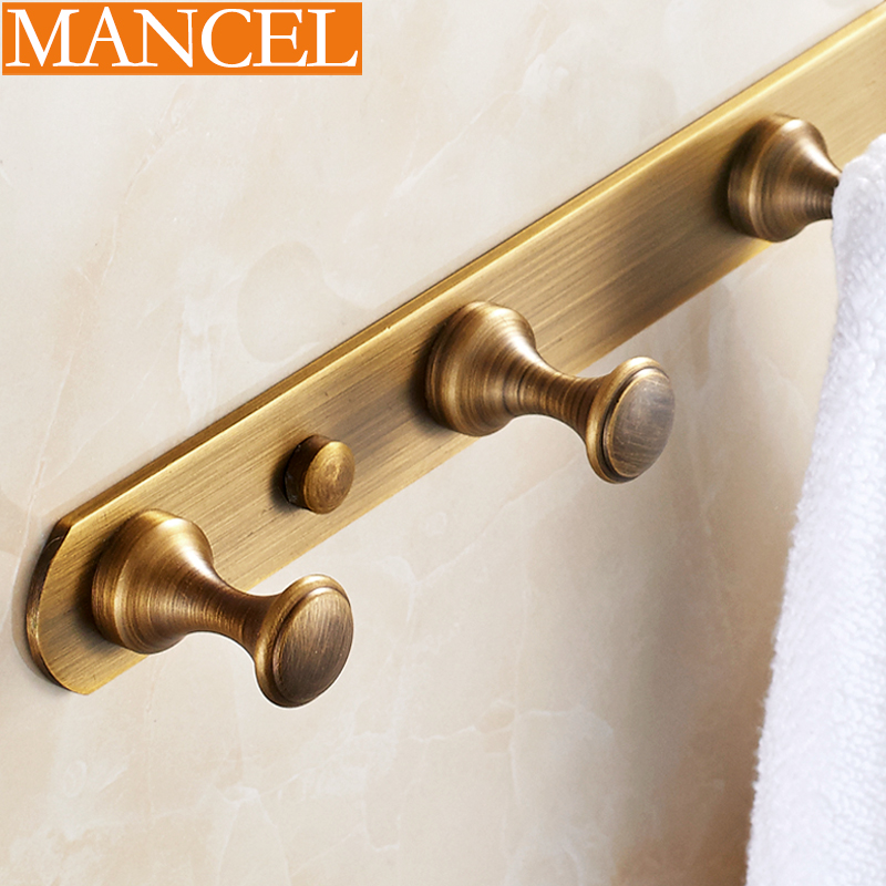 Man pose european antique bathroom full copper coat hooks coat hooks coat hooks door hook after hook row hook bathroom accessories retro