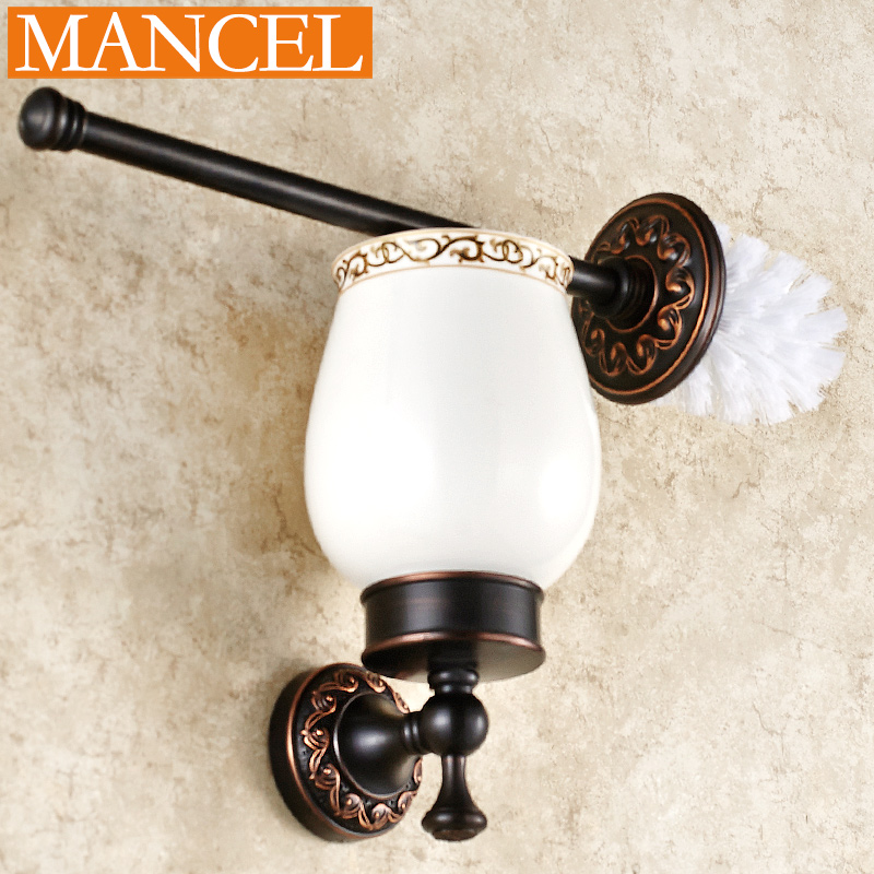 Man pose full bathroom black antique toilet toilet toilet brush holder suit european cup full of copper bathroom bathroom accessories