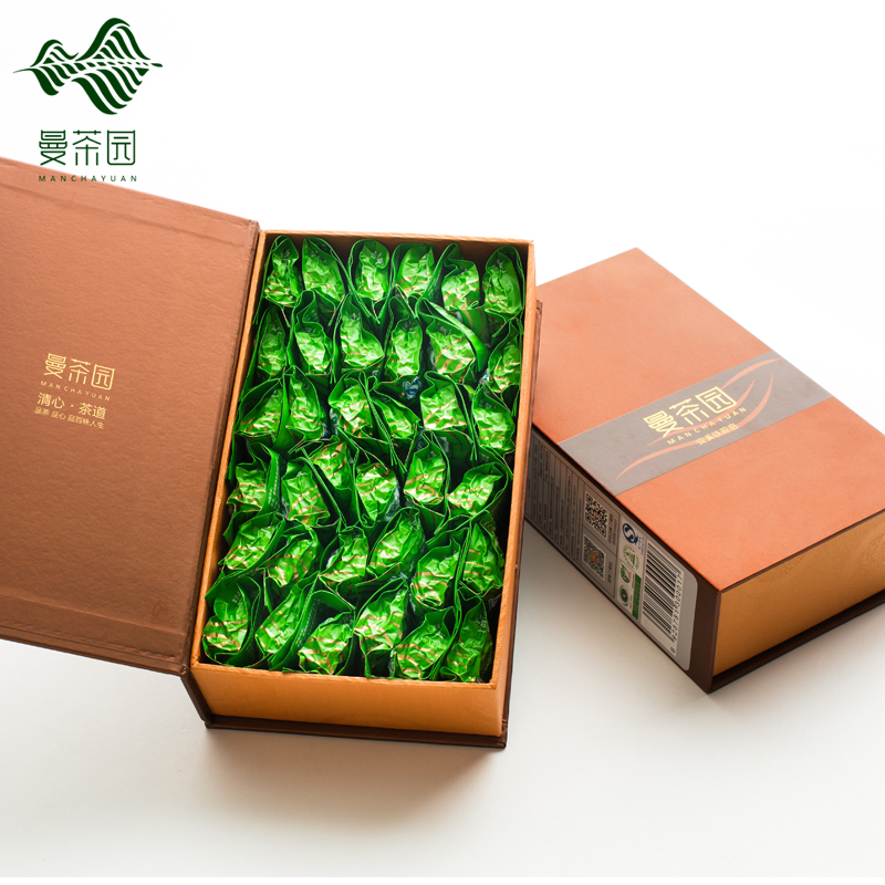 Man tea fragrance one 2016 new tea tieguanyin oolong tea gift box buy 1 to send 1 gift free shipping