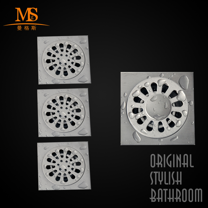 Manggis bathroom kitchen bathroom floor drain odor pest combination 304 brushed stainless steel floor drain