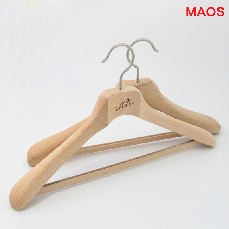 Maos upscale beech wooden clothes peg hanger racks fit'suit simple clothes storage cabinets racks hangers