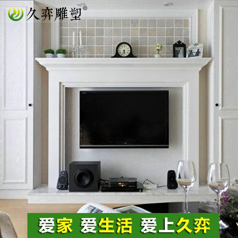 Marble tv cabinet fireplace decorated american minimalist custom natural long yi white marble stone carving stone fireplace mantel