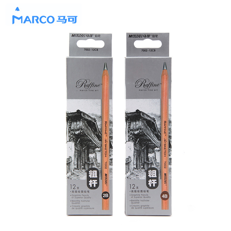 Marco mark 7002 mark sketch pencil sketch pencil drawing pencil drawing pencil thick shaft pencil box 12