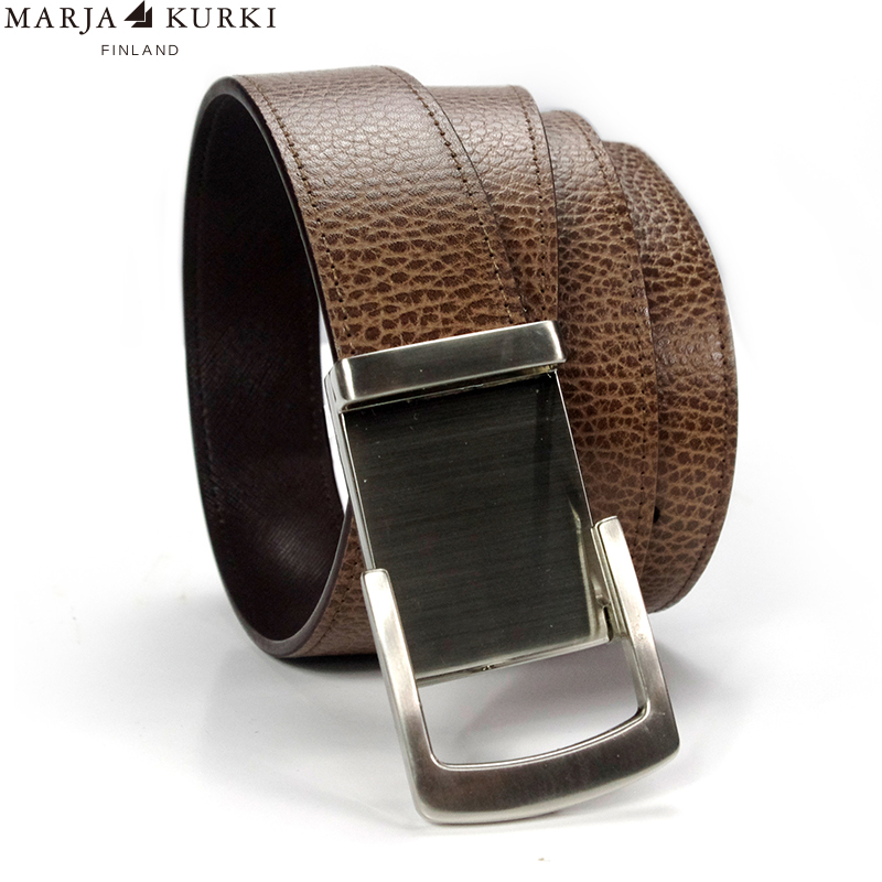 Marja kurki first layer of leather belt business men automatic buckle leather belt men's leather belt automatic belt buckle