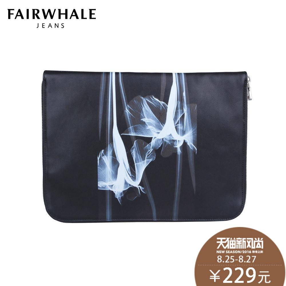 e3e0e35e685b Get Quotations · Markfairwhale document bag 2016 spring new square handbag  clutch bag influx of male fashion printing pu