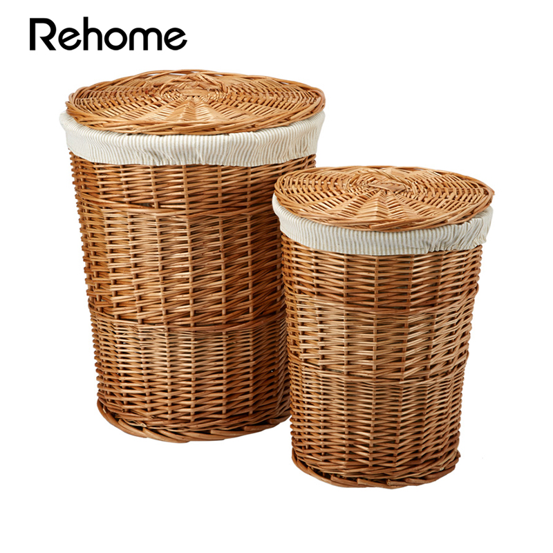 Markor rehome circular storage wicker laundry basket of dirty clothes basket shu R1006000166