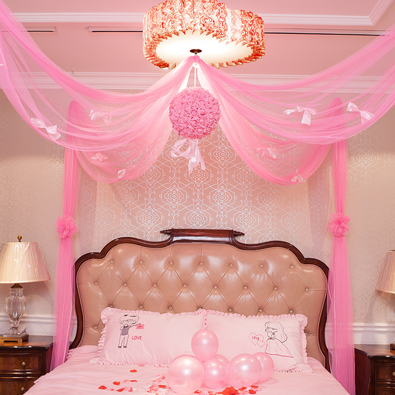 Marriage room layout wedding room decoration ornaments wedding packages wedding wedding supplies flower ball pull new home