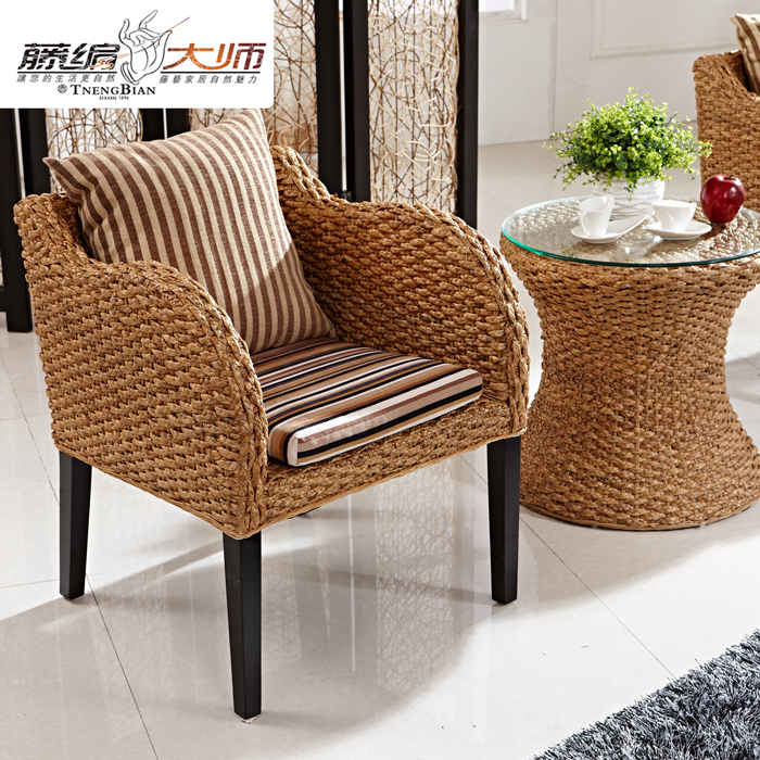Master ㊣ rattan cane rattan furniture southeast asian style rattan wicker chair rattan dining chair leisure chair dining chair armchair