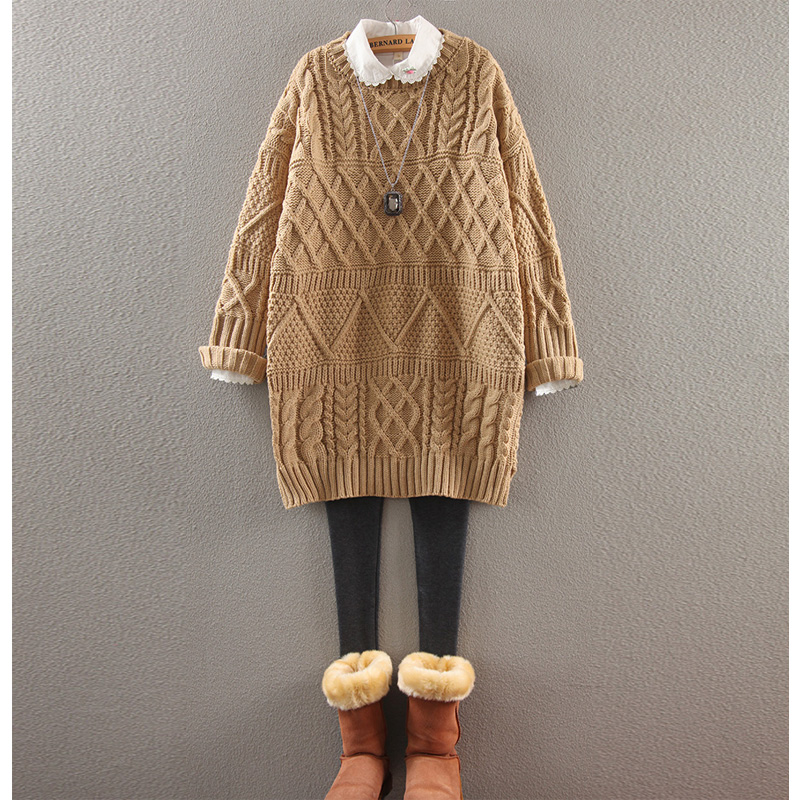 Maternity fall and winter clothes new korean pregnant women thick sweater 2016 winter coat fashion big yards pregnant