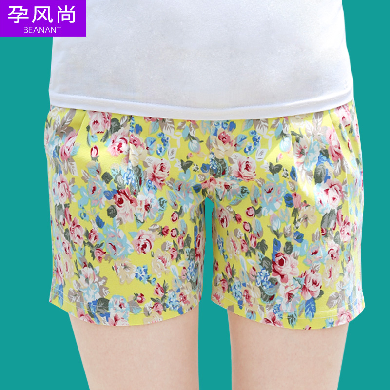Maternity maternity pants korean spring and summer care for pregnant women pregnant women summer shorts shorts fashion flowers leggings care of pregnant women shorts