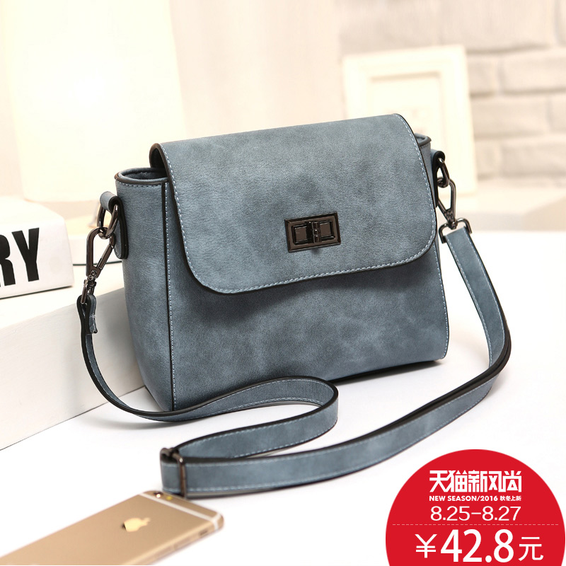 Matte handbags 2016 new wave of days ms. shoulder bag messenger bag summer fashion fans you small bag small square package
