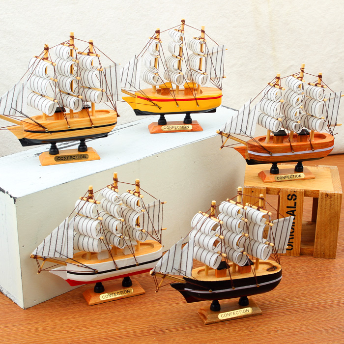 Mediterranean style small sailboat bedroom decorations ornaments creative home living room decorations ornaments smooth sailing pirate ship