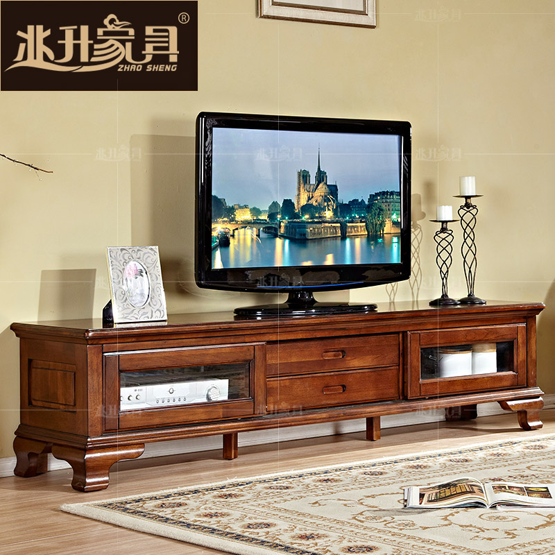 Megalitres jianmei american minimalist furniture solid wood tv cabinet living room cabinet lockers aigui euclidian shadow cabinet of theb3