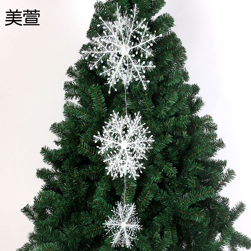 Mei xuan christmas decoration hanging ceiling decorated dual 28 cm 38cm three sets of three-dimensional stickers winding sheet of snow
