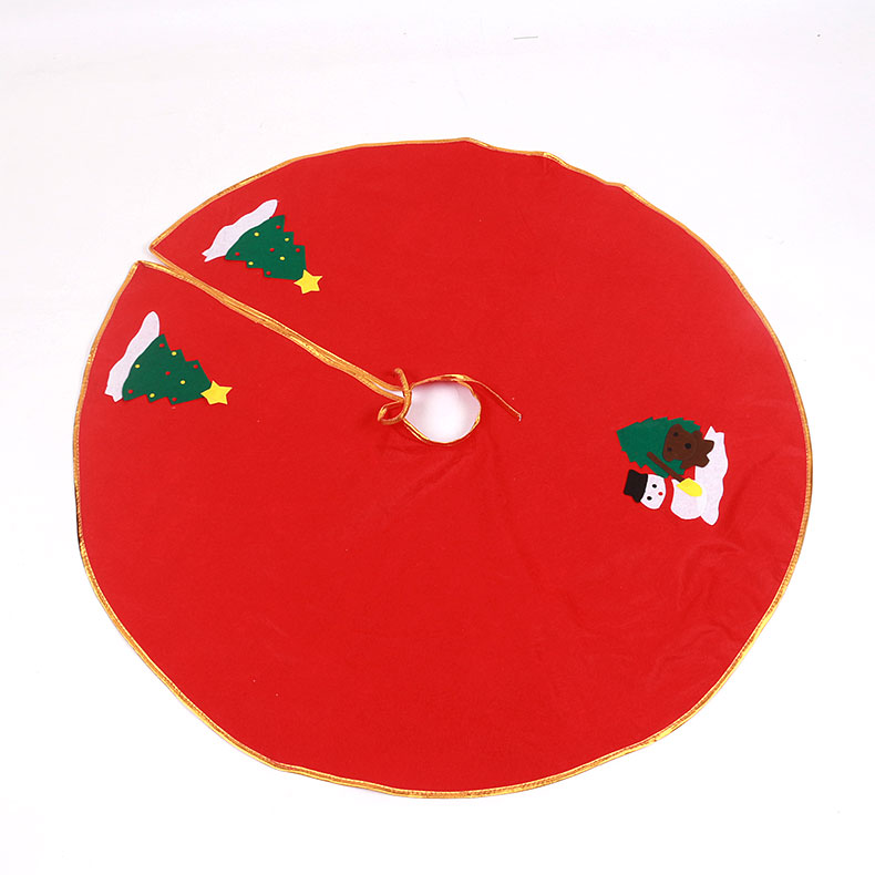 Mei xuan christmas tree skirt 90 cm christmas tree decorations accessories accessories tree mat christmas holiday decorations