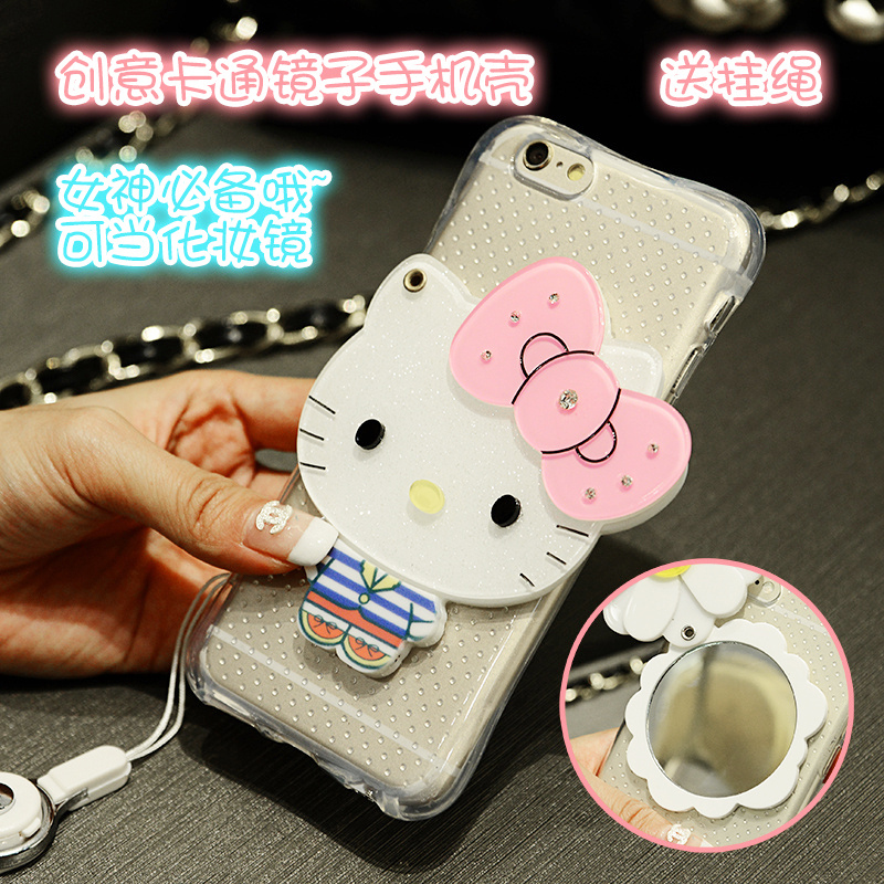 Meizu mx5 mx6 mirror phone shell halter m681q mx5 e with lanyard cartoon popular brands of soft silicone shell influx of women